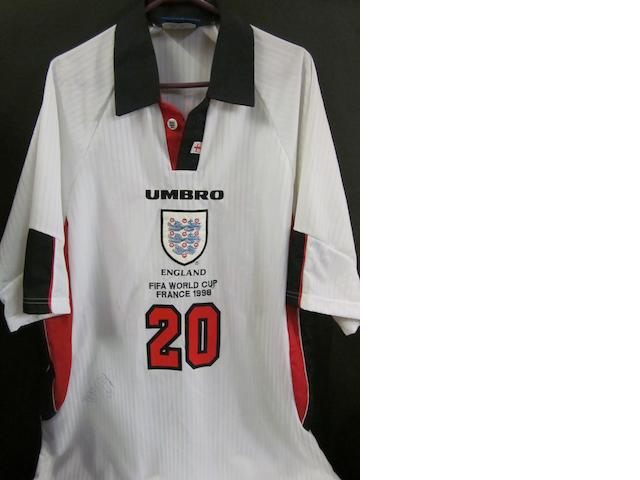 1998 France World cup Michael Owen England match issued shirt