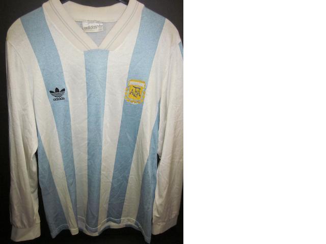1993 Diego Maradona match worn Argentina shirt
