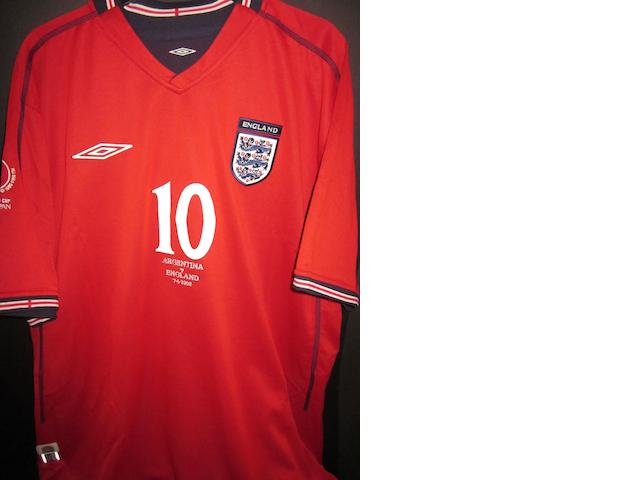 2002 Japan World Cup - Michael Owen match worn England shirt