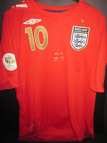 2006 Germany World Cup - Michael Owen match worn England shirt