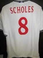 1999/2000 Paul Scholes match worn England shirt