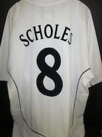 2002 World Cup quarter final Paul Scholes match worn England shirt