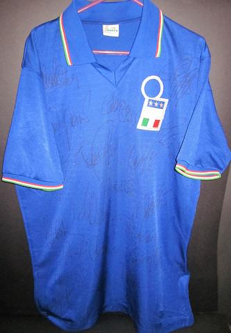 Franco Baresi match worn Italy shirt