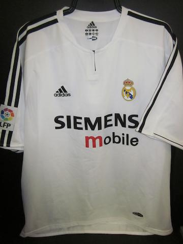 2004 Zinedane Zidane match worn Real Madrid shirt