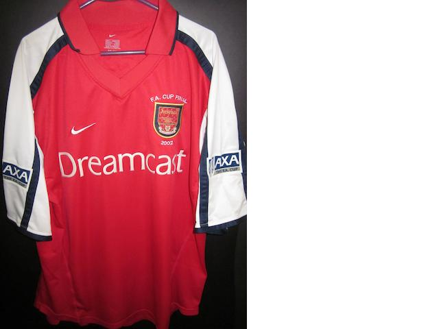 2001/02 F.A. Cup final Dennis Bergkamp match worn shirt