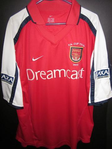 2001/02 F.A. Cup final Dennis Bergkamp match worn shirt