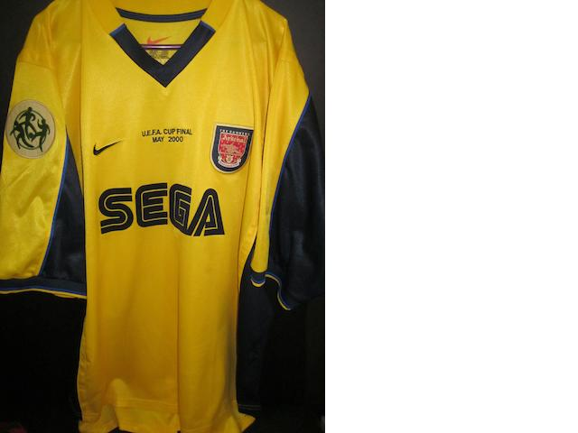 2000 U.E.F.A. Cup final Dennis Bergkamp match worn Arsenal shirt