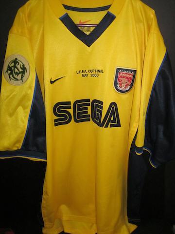 2000 U.E.F.A. Cup final Dennis Bergkamp match worn Arsenal shirt