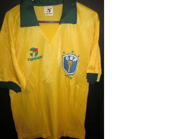 Italy 1990 World Cup - Careca Brazil match worn shirt