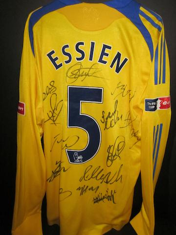 2009 F.A. Cup final - Michael Essien match worn Chelsea shirt
