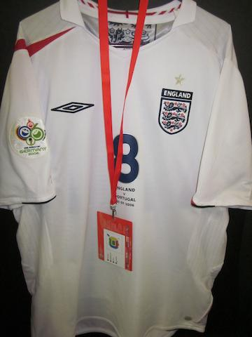 2006 Germany World Cup - Frank Lampard match worn England shirt