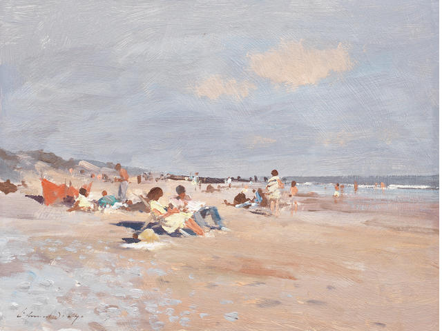 Edward Seago R.W.S. (British, 1910-1974) Waxham Beach 30.6 x 40.6 cm. (12 x 16 in.)