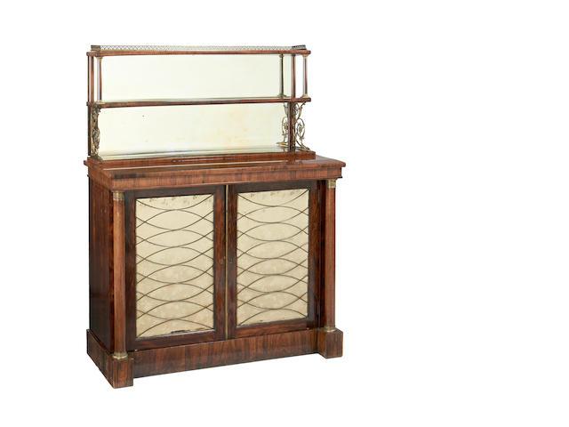 A Regency rosewood chiffonier