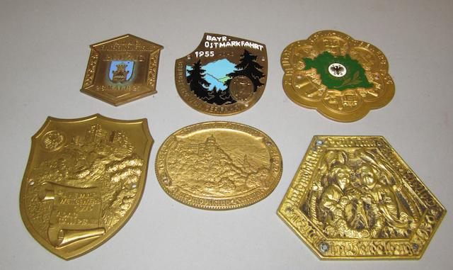 Six assorted German rally plaques, pre and post-war,