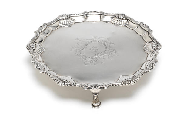 A George III silver shaped-circular waiter, by Richard Rugg, London 1763