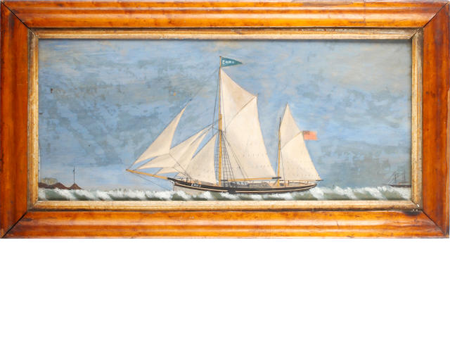 English School, 19th Century The ship 'Emma' off the coast