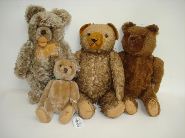 Four German Teddy bears, 1950's 4
