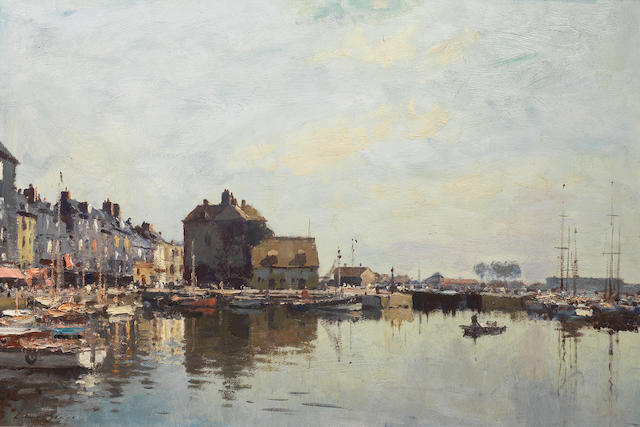 Edward Seago R.W.S. (British, 1910-1974) Honfleur 50.8 x 76.2 cm. (20 x 30 in.)