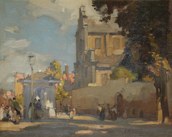 Sir Frank Brangwyn, R.A. (British, 1867-1956) The House on the Corner