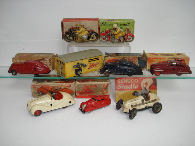 Schuco (pre and post-war) collection of motorcycles and cars 9