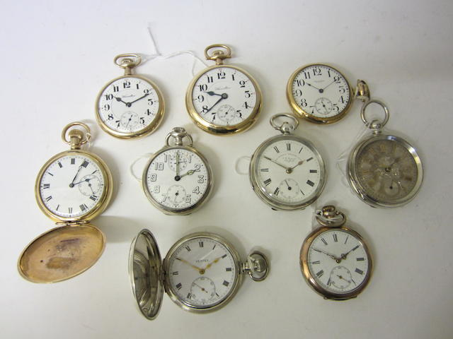 Zenith: A silver keyless wound open face, alarm pocket watchGlasgow import 1916 (9)