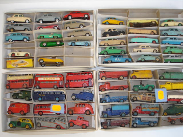 Dinky cars, trucks, vans and buses approx 80