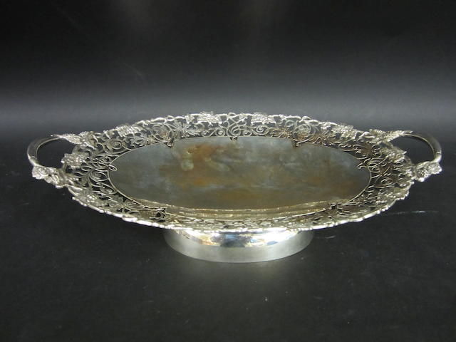 A silver dessert dish by Viners, Sheffield 1963