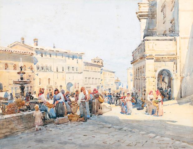 Robert Weir Allan, RSA RWS RSW (British, 1852-1942) Market Scene