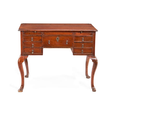 A second quarter 18th century and later walnut dressing table