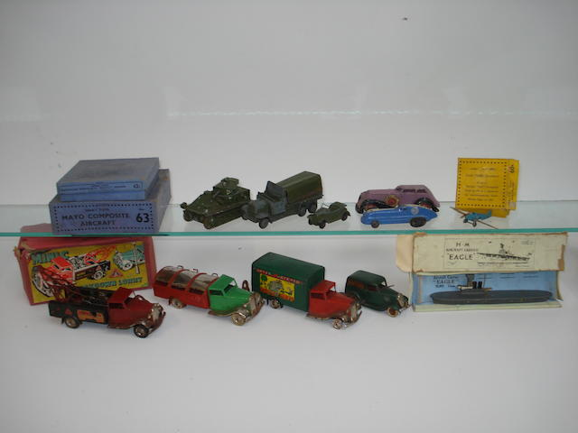 Tri-ang Minic 48M Breakdown lorry and other toys lot