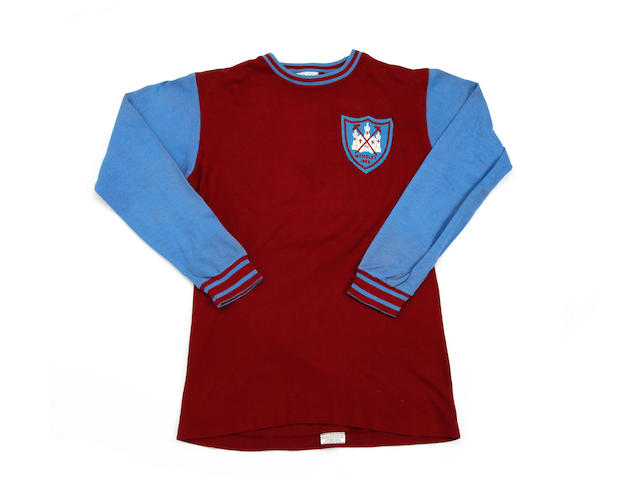 1964 West Ham F.A Cup Winners shirt worn by Jack Burkett