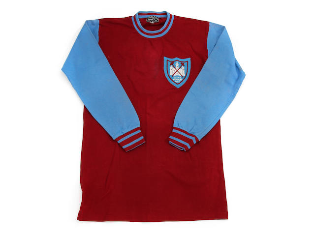 1965 West Ham European Cup Winners Cup shirt worn by Jack Burkett