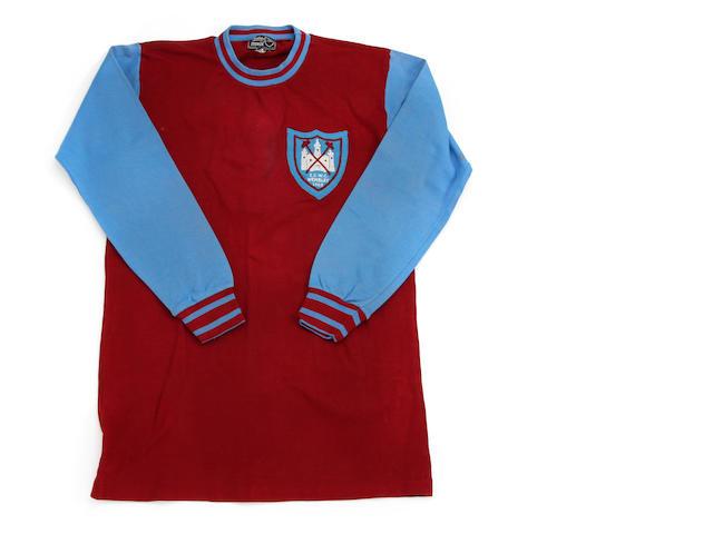 1965 West Ham European Cup Winners Cup shirt worn by Jack Burkett