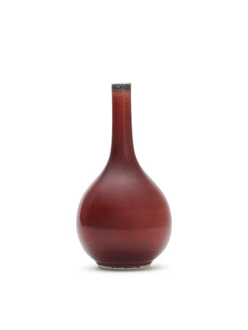 A sang-de-boeuf glazed bottle vase 18th century
