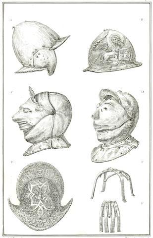 ARMOUR UBOLDO (AMBROGIO) Descrizione degli elmi posseduti da Ambrogio Uboldo, nobile de-Villareggio, 1840; and another (2)