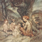 RACKHAM (ARTHUR) SWINBURNE (ALGERNON CHARLES) The Springtide of Life, NUMBER 573 OF 765 COPIES, SIGNED BY RACKHAM,  William Heinemann, [1918]; STEPHENS (JAMES) Irish Fairy Tales, Macmillan, 1920--Arthur Rackham's Book of Pictures, William Heinemann [1913]; ARNOUX (ALEXANDRE) La Légende Du Roi Arthur, NUMBER 987 of 1500 COPIES, Paris, H. Piazza, [1920]; LA MOTTE-FOUQUÉ [FRIEDRICH H.C. DE] Undine, William Heinemann, 1909; ROSSETTI (CHRISTINA) Goblin Market, George G. Harrup [1933] (6)