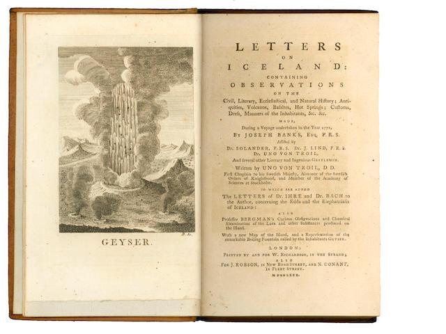TROIL (UNO von) Letters on Iceland, 1780