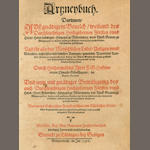 GÄBELKOVER (OSWALD) Artzneybuch, 5 parts in one vol., Tubingen, 1596