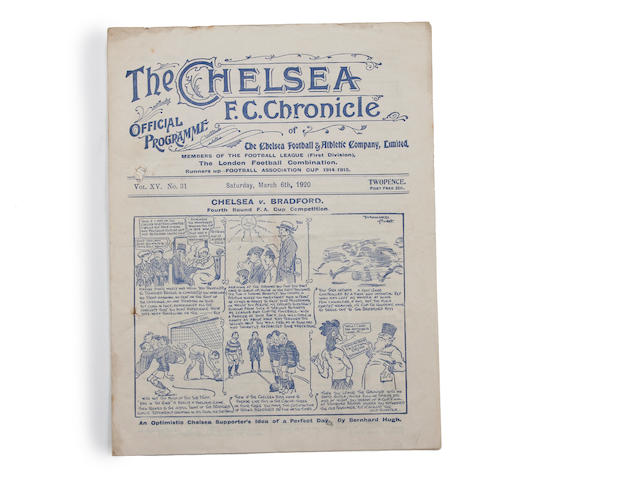 1919/20, 1932/33, 1934/35 and 1936/37 Chelsea home programmes