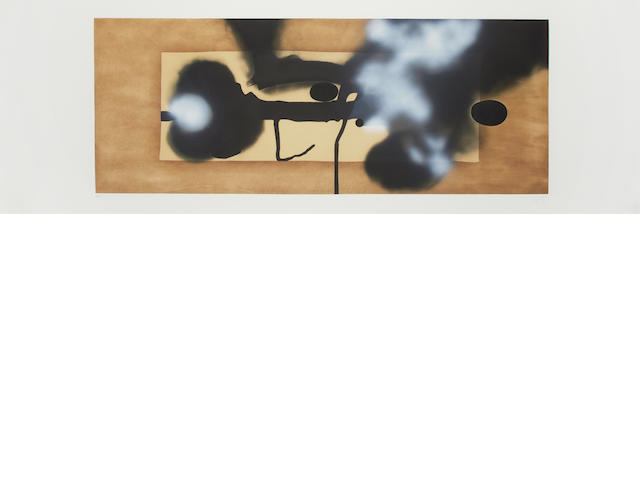 Victor Pasmore RA (British, 1908-1998) Metamorphosis (Lynton G41) Etching with aquatint printed in colours, 1986, on Fabriano, signed, dated and numbered 54/90 in pencil, printed by Vigna Antoniniana Stamperia d'arte, Rome, published by Marlborough Fine Art, London, and 2RC, Rome, with margins, 610 x 1610mm (24 x 63 1/2in)(PL)