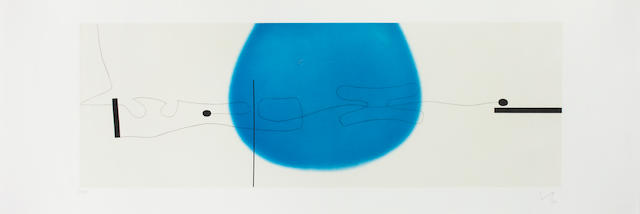 Victor Pasmore RA (British, 1908-1998) The world in space and time I Etching with aquatint printed in colours, 1992, on wove, signed, dated and numbered 82/90 in pencil, with margins, 480 x 1430mm (19 x 56 1/4in)(PL)