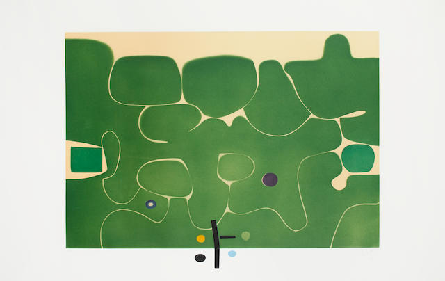 Victor Pasmore RA (British, 1908-1998) Il Labirinto della Psiche (Lynton G40) Etching with aquatint printed in colours, 1986, on Fabriano, signed, dated and numbered 36/90 in pencil,printed by Vigna Antoniniana Stamperia d'arte, Rome, published by Marlborough Fine Art, London and 2RC, Rome, with margins, 780 x 12200mm (30 3/4 x 48in)(PL)