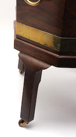 A Scottish George III mahogany and brass-bound cellaret