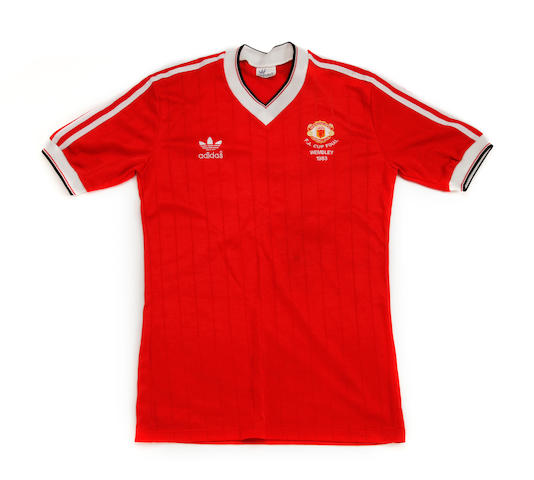 Norman Whiteside's match worn 1983 F.A. Cup final replay shirt