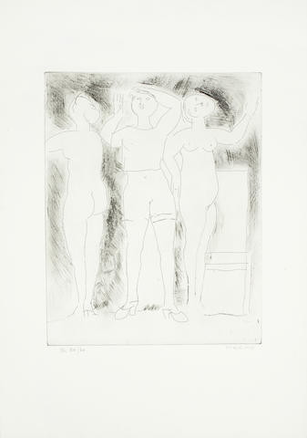 Marino Marini (Italian, 1901-1980) Idea della Verginita Etching, 1969, on wove, signed and numbered 54/60 in pencil, published by Luigi De Tullio, Milan, with their blindstamp, with margins, 427 x 350mm (16 3/4 x 13 3/4in)(PL)(unframed)