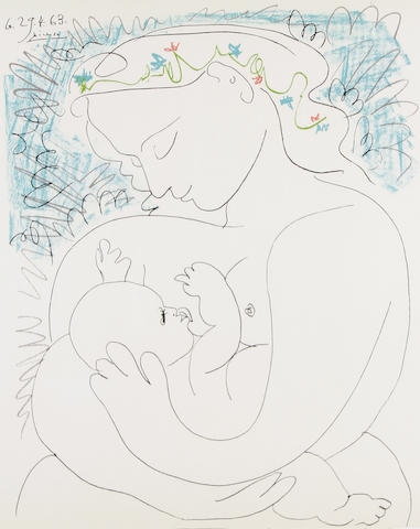 After Pablo Picasso (1881-1973) Maternite Lithograph in colours, published by Editions Combat Pour LA Paix, with full margins, 645 x 495 mm (25 3/8 x 19 1/2 in)