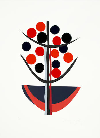 Sir Terry Frost R.A. (British, 1915-2003) Life is Just a Bowl of Cherries II Inkjet print in colours, 2004, on Somerset wove, signed in the plate, counter-signed and dated in pencil by the artist's wife, numbered 18/60 in pencil, as included in Royal Academy Schools' portfolio of 10 Artists, 2003, printed by Coriander Studios and Sky Editions London, published by the Royal Academy of Arts, London, with full margins, 595 x 445mm (23 1/2 x 17 1/2in) (SH)