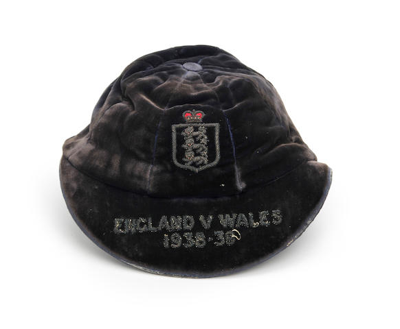 1938/39 England International cap awarded to Stanley Matthews