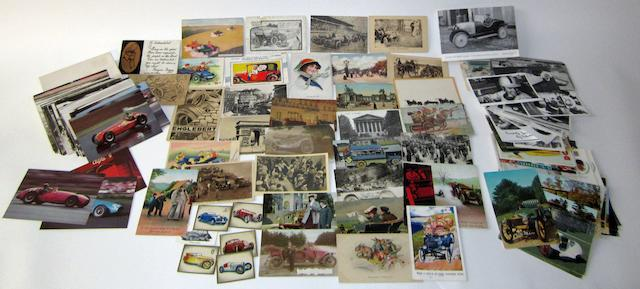 A collection of motoring postcards, (Qty)