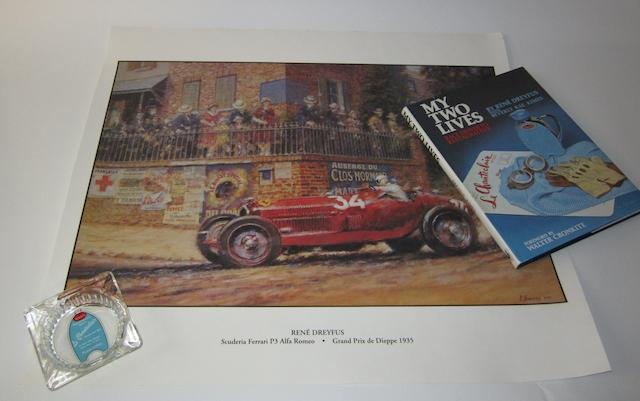 Three items of René Dreyfus memorabilia,